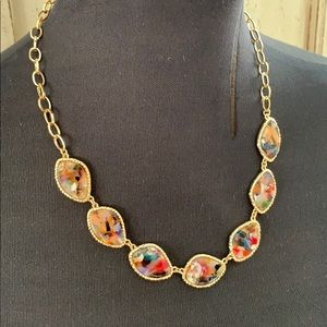 """10"""" gold and multi stone necklace"""